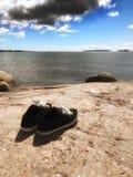 对偏僻的鞋子 免版税图库摄影