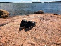 对偏僻的鞋子 免版税库存照片