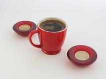 对光检查咖啡 免版税图库摄影