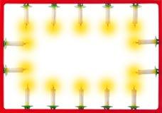 对光检查圣诞节框架 免版税库存照片