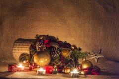 对光检查圣诞节装饰 图库摄影