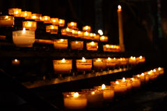 对光检查祷告 库存照片