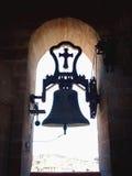 对光的钟楼 库存图片
