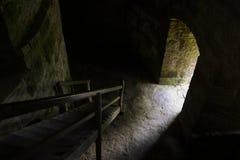 对光的门道入口 库存照片