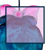 对党的一个方形的邀请 圣诞节球 与空间的模板文本的 水彩 皇族释放例证