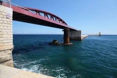 对全部港口的防堤和入口 图库摄影
