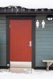对公共厕所的门 免版税库存图片