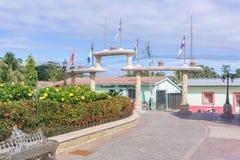 对公园的入口圣塞瓦斯蒂安, Hon的小自治市的 免版税图库摄影