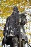 对公爵奥尔布雷克特, Konigsberg大学的创建者的纪念碑 库存图片