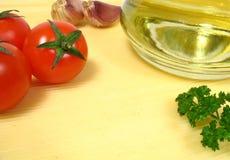 对典型的食品成分意大利语 免版税库存照片