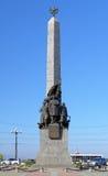 对内战的英雄的纪念碑在哈巴罗夫斯克 库存图片