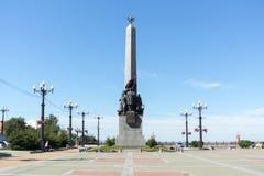 对内战的英雄的纪念碑 库存照片