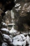 对冰洞的秘密入口 库存照片