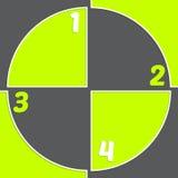 对准标记启发了infogrpahic设计 免版税图库摄影
