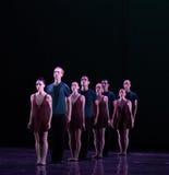 对准线古典芭蕾` Austen汇集` 库存照片