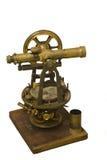 对准线古色古香的仪器评定的调查 库存图片