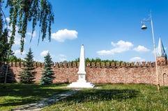对列宁的最小的纪念碑在Yelabuga 库存图片