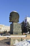 对列宁的纪念碑在乌兰乌德,布里亚特共和国 库存图片