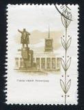 对列宁的纪念碑在列宁格勒 库存图片