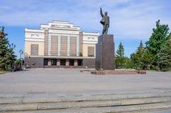 对列宁的纪念碑 免版税库存照片