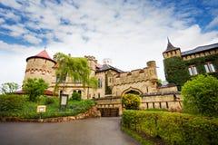 对利希滕斯泰因城堡的门 免版税库存照片