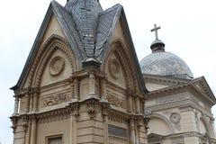 对利沃夫州公墓城市的看法在老城市利沃夫州 库存图片