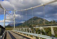 对别墅O希金斯,南方的Carretera,智利的桥梁 免版税库存照片