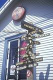 对到处的符号在门多西诺郡 免版税库存图片