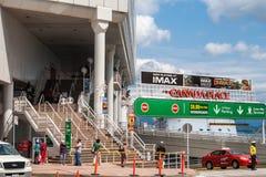 对加拿大地方IMAX剧院,温哥华的入口 免版税库存图片