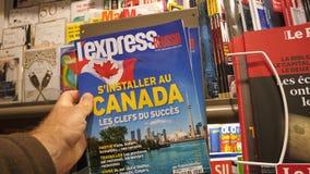 对加拿大邮政报刊亭法国的移民 影视素材