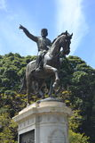 对加里波第的纪念碑, Falcone-Morvillo庭院的在巴勒莫 免版税库存图片