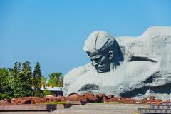 对勇敢的战争纪念碑,布雷斯特堡垒,白俄罗斯 免版税库存图片