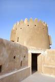 对北塔的入口在Zubarah堡垒,卡塔尔的第二个级别 库存照片