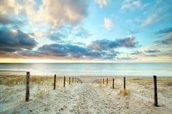 对北海海滩的沙子方式 图库摄影