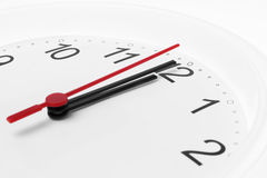 对午夜的时钟读秒 免版税库存图片