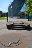 对华沙少数民族居住区英雄的第一座纪念碑 免版税库存图片