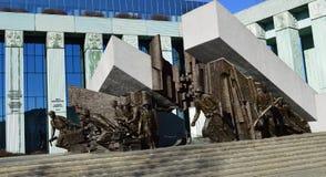 对华沙起义的纪念碑 库存图片