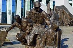 对华沙起义的纪念碑 库存照片