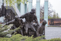 对华沙起义的英雄的纪念碑 库存图片