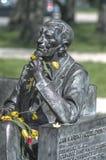 对华沙1月Karski,波兰的纪念碑 库存图片