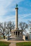 对南北战争战士的纪念碑在加得奴加,田纳西附近 库存图片