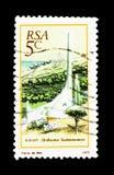 对南非荷兰语的纪念碑, serie,大约1975年 免版税库存图片