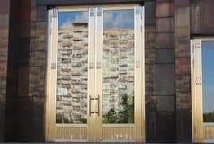 对博物馆纪念碑`的进口工作者和苏联的集体农庄的妇女` 免版税库存照片