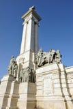 对卡迪士法院, 1812宪法,安大路西亚,西班牙的纪念碑 免版税图库摄影