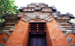 对印度寺庙的入口 免版税库存照片