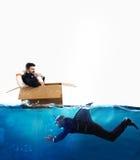 对危机和企业竞争概念的恐惧 免版税图库摄影