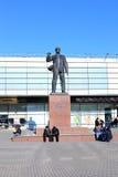 对厄恩斯特Telman -德国共产主义领导的纪念碑在莫斯科 免版税图库摄影