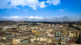 对厄立特里亚的阿斯马拉首都的鸟瞰图 图库摄影