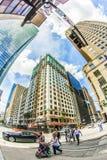 对历史和现代摩天大楼的看法在街市休斯敦 库存照片