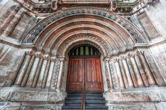 对历史建筑的入口在Melbounre 免版税库存照片